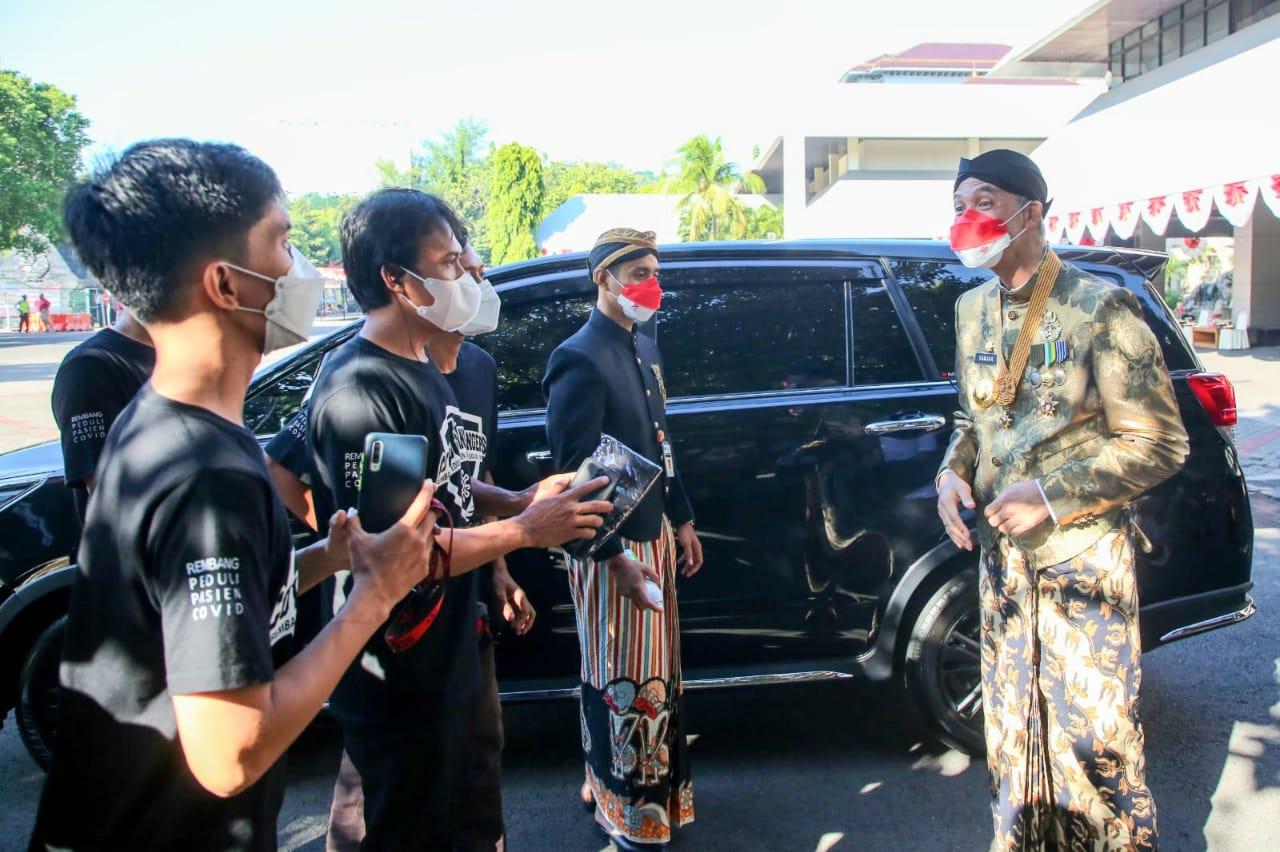 Alasan Covid Rangers Rembang Digaungkan Ganjar Pada Upacara HUT Jateng ke-71